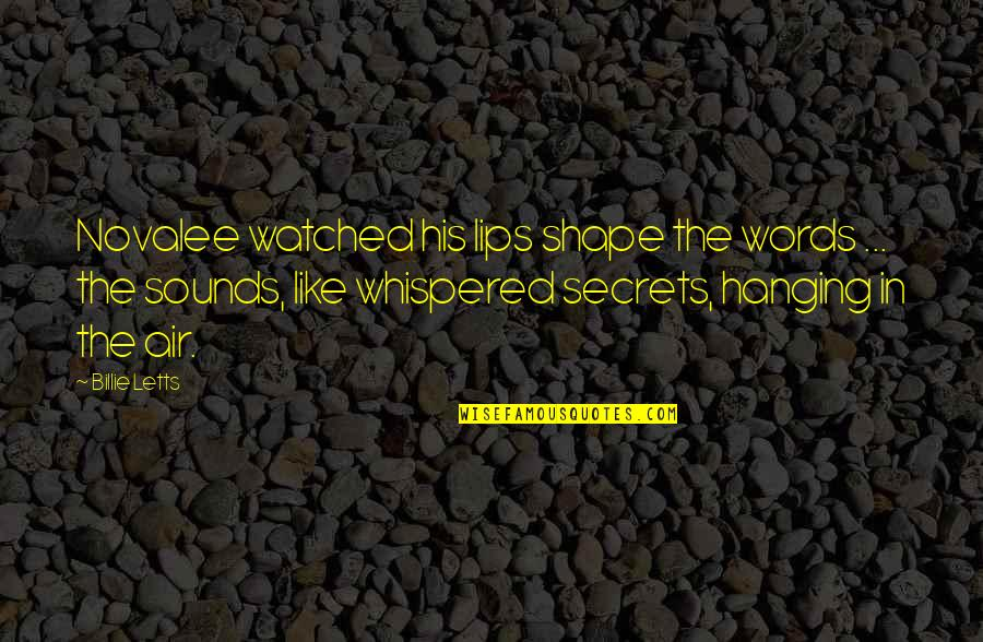 Billie Letts Quotes By Billie Letts: Novalee watched his lips shape the words ...