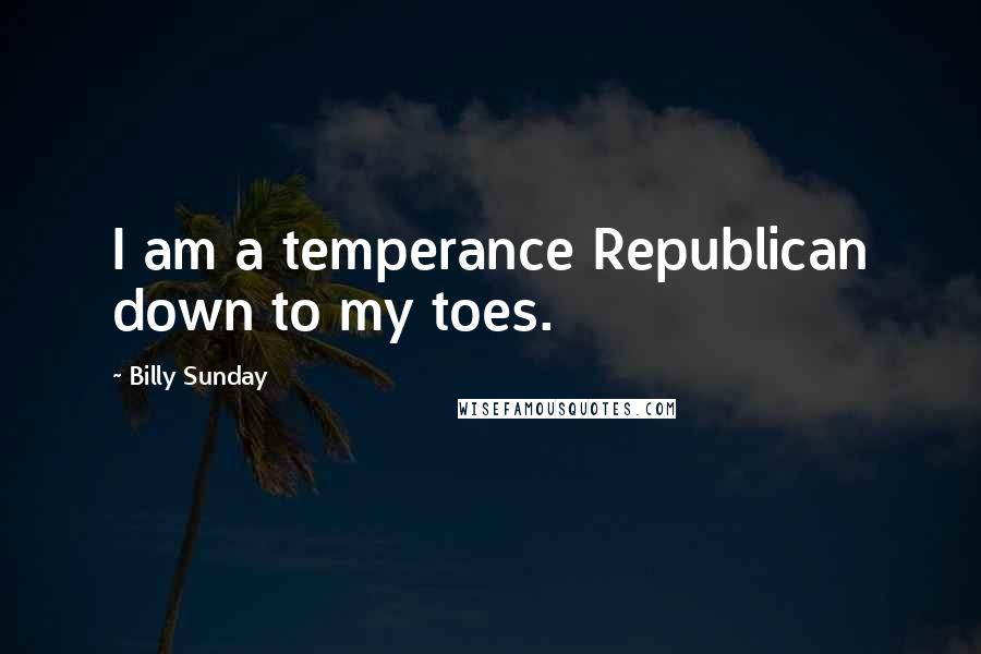 Billy Sunday quotes: I am a temperance Republican down to my toes.