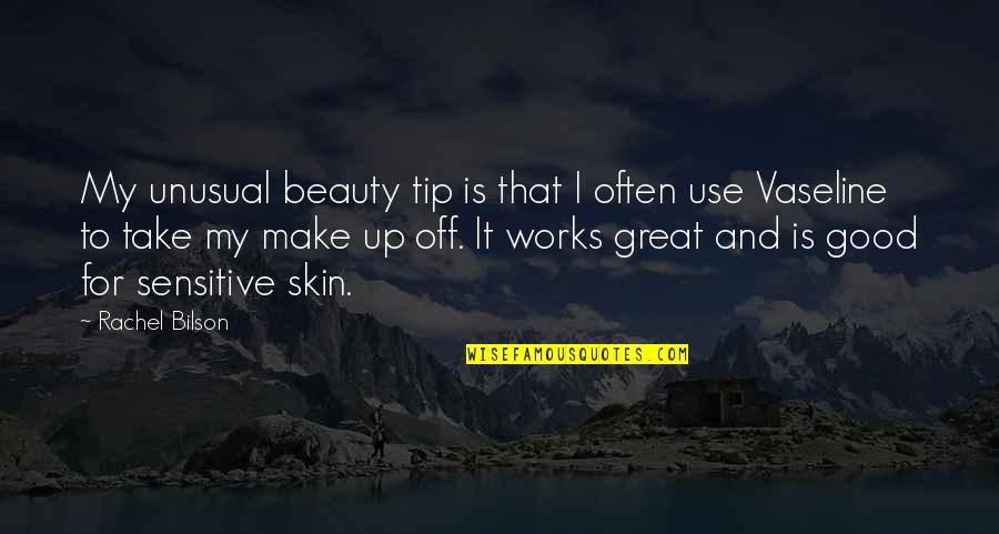 Bilson Quotes By Rachel Bilson: My unusual beauty tip is that I often