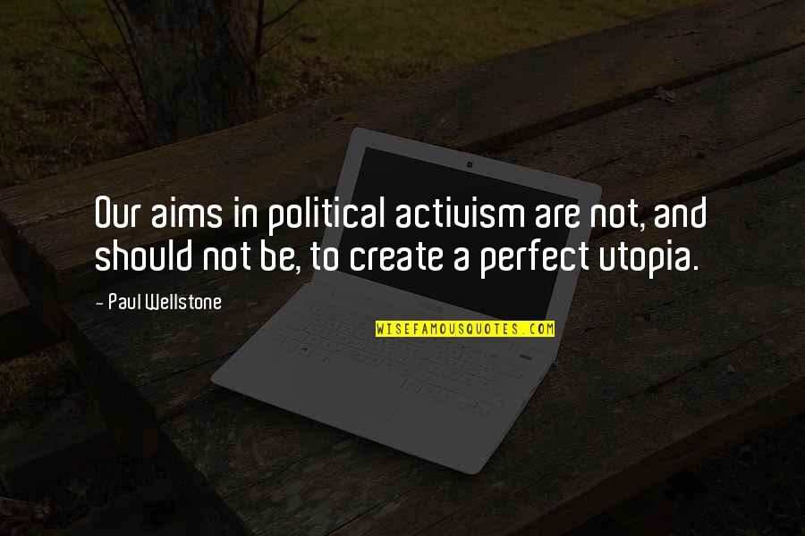 Bionicle 2 Quotes By Paul Wellstone: Our aims in political activism are not, and