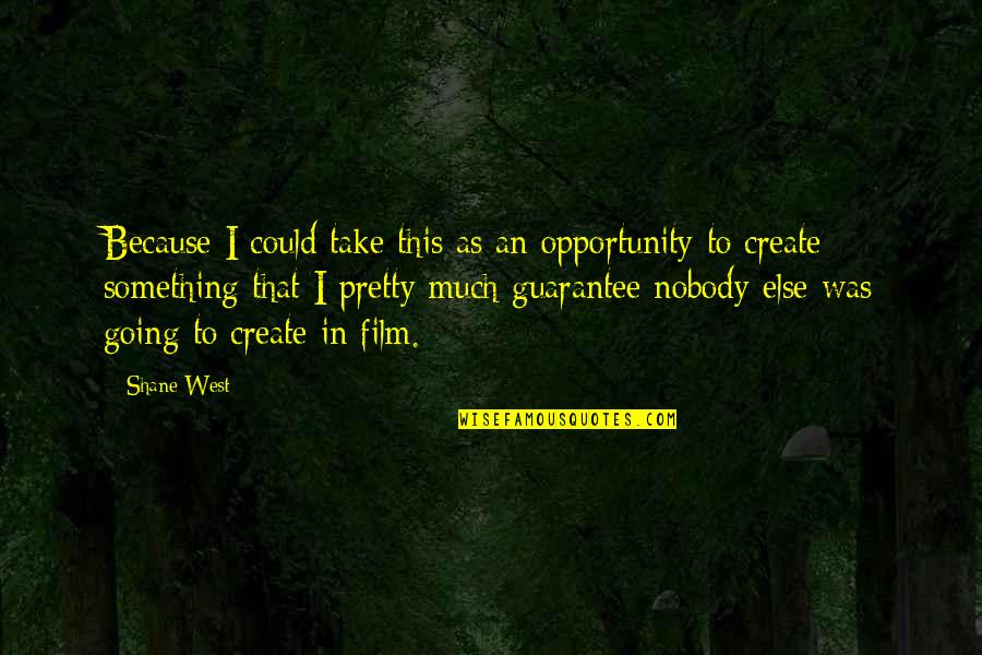 Bionicle 2 Quotes By Shane West: Because I could take this as an opportunity