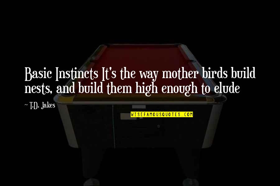 Bird Nests Quotes By T.D. Jakes: Basic Instincts It's the way mother birds build