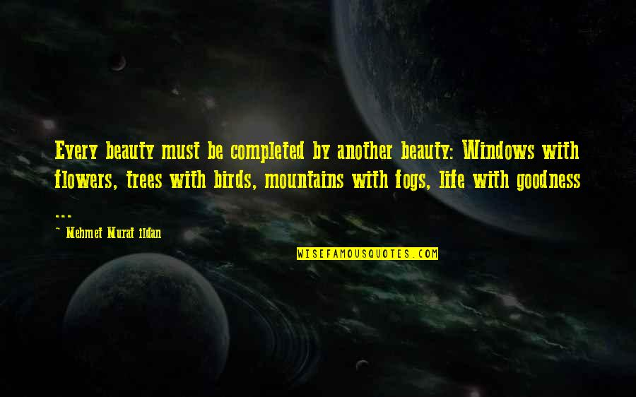 Birds And Life Quotes By Mehmet Murat Ildan: Every beauty must be completed by another beauty: