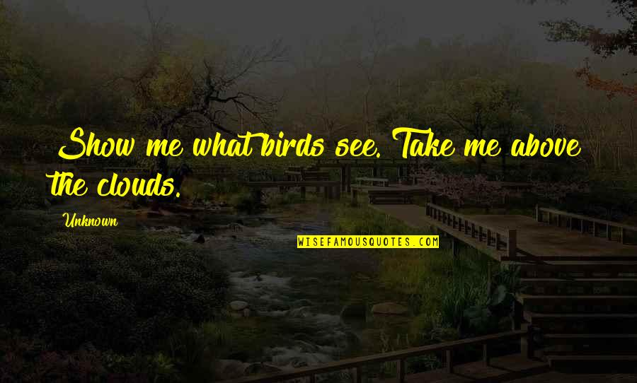 Birds And Life Quotes By Unknown: Show me what birds see. Take me above