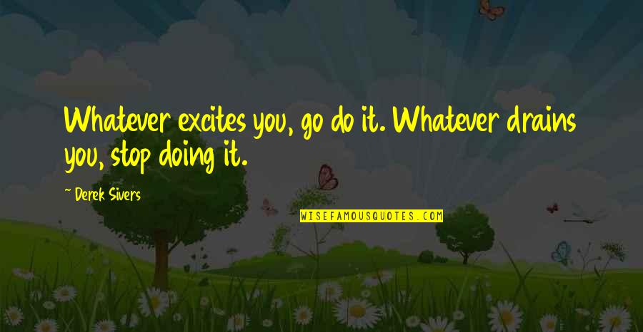 Birthday Banners Quotes By Derek Sivers: Whatever excites you, go do it. Whatever drains