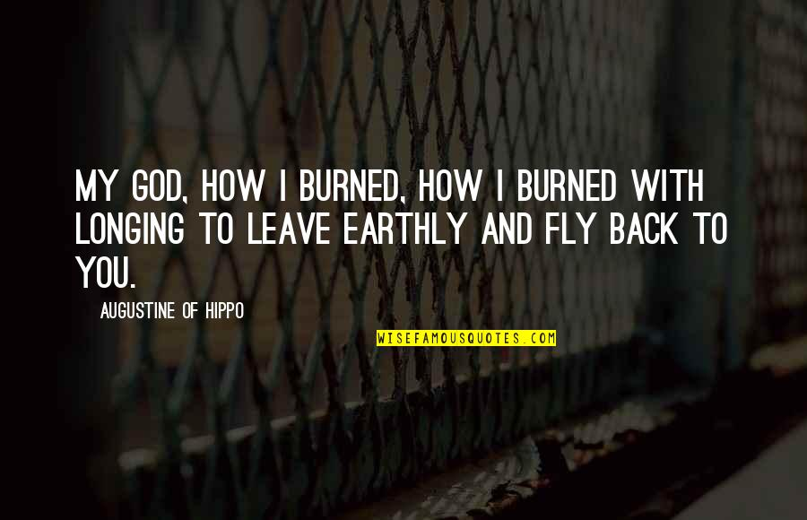 Biting Lips Quotes By Augustine Of Hippo: My God, how I burned, how I burned