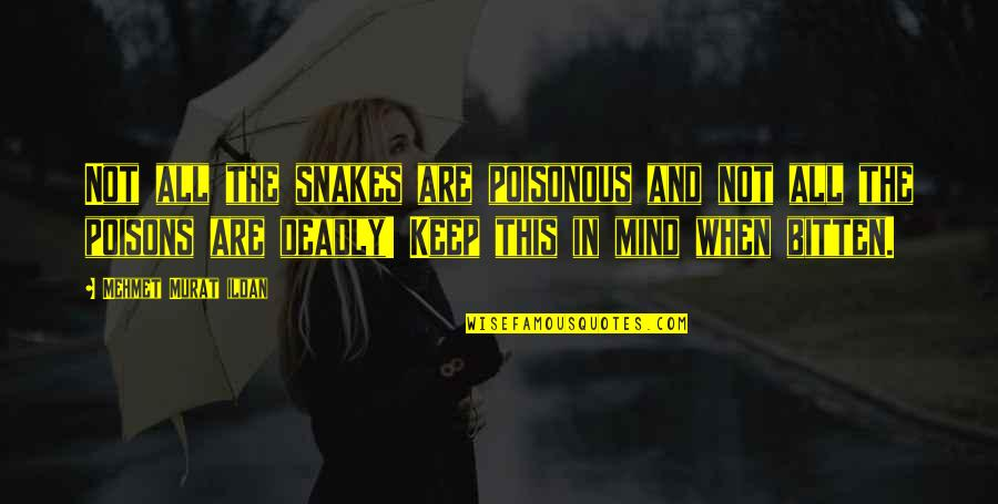 Bitten Quotes By Mehmet Murat Ildan: Not all the snakes are poisonous and not