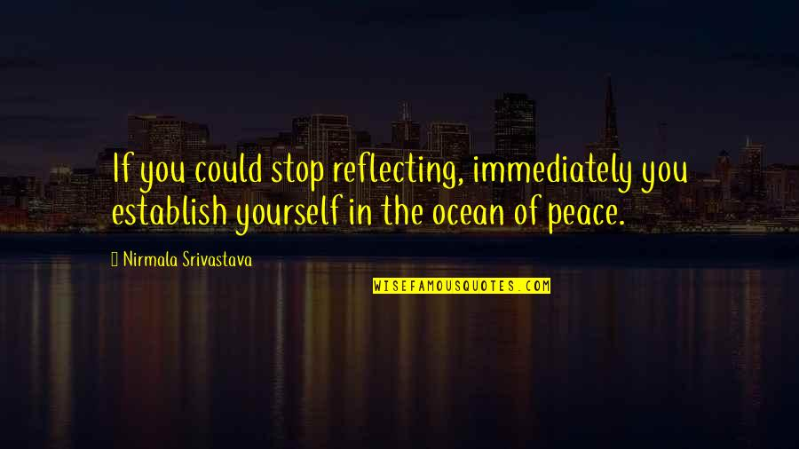 Black Country Phrases Quotes By Nirmala Srivastava: If you could stop reflecting, immediately you establish