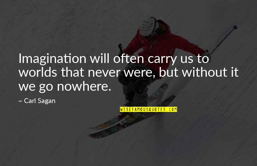 Black Historical Quotes By Carl Sagan: Imagination will often carry us to worlds that