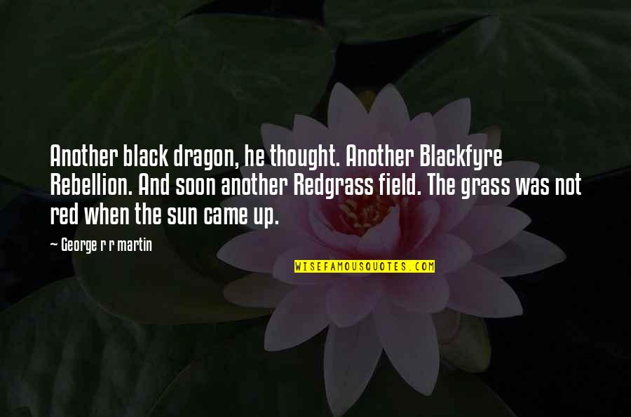 Black Red Quotes By George R R Martin: Another black dragon, he thought. Another Blackfyre Rebellion.