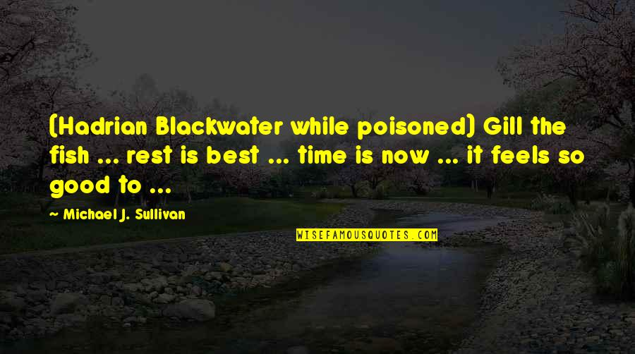 Blackwater's Quotes By Michael J. Sullivan: (Hadrian Blackwater while poisoned) Gill the fish ...