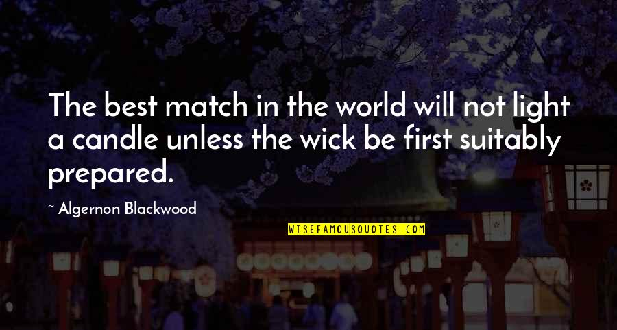 Blackwood Quotes By Algernon Blackwood: The best match in the world will not