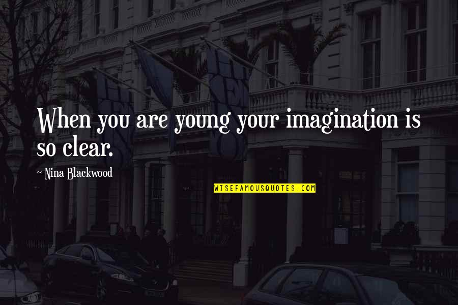 Blackwood Quotes By Nina Blackwood: When you are young your imagination is so