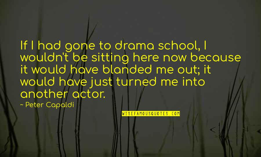 Blanded Quotes By Peter Capaldi: If I had gone to drama school, I