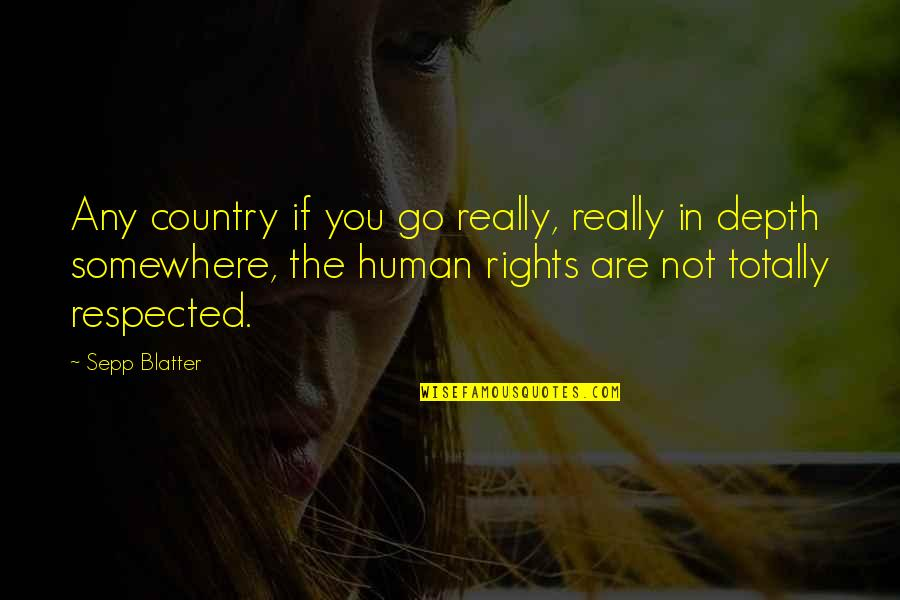 Blatter Quotes By Sepp Blatter: Any country if you go really, really in