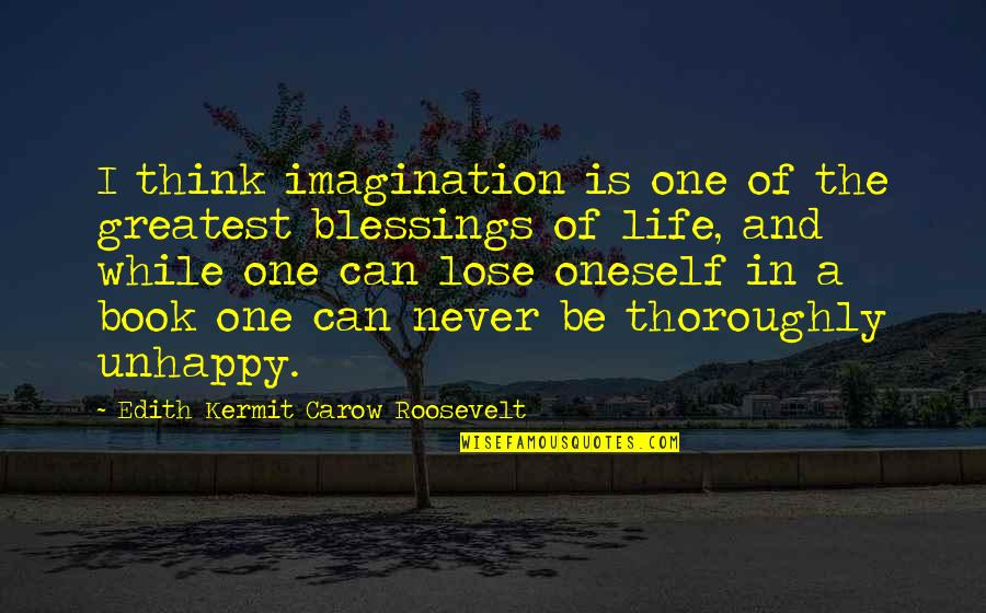 Blessings Of Life Quotes By Edith Kermit Carow Roosevelt: I think imagination is one of the greatest