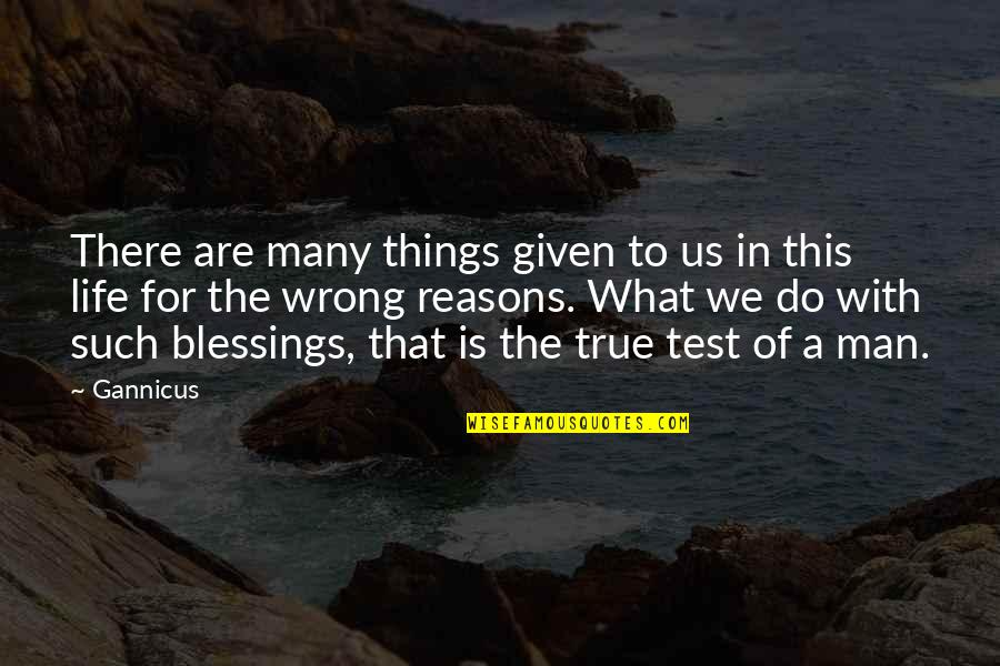 Blessings Of Life Quotes By Gannicus: There are many things given to us in