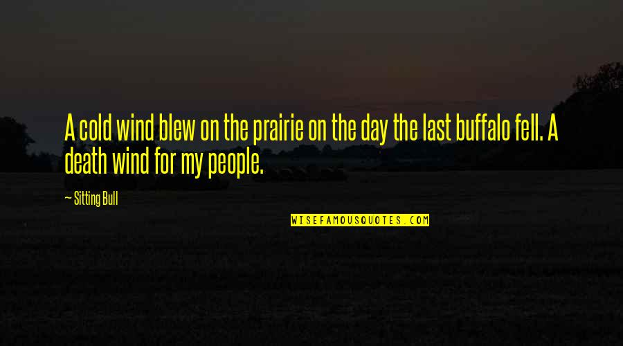 Blew Quotes By Sitting Bull: A cold wind blew on the prairie on