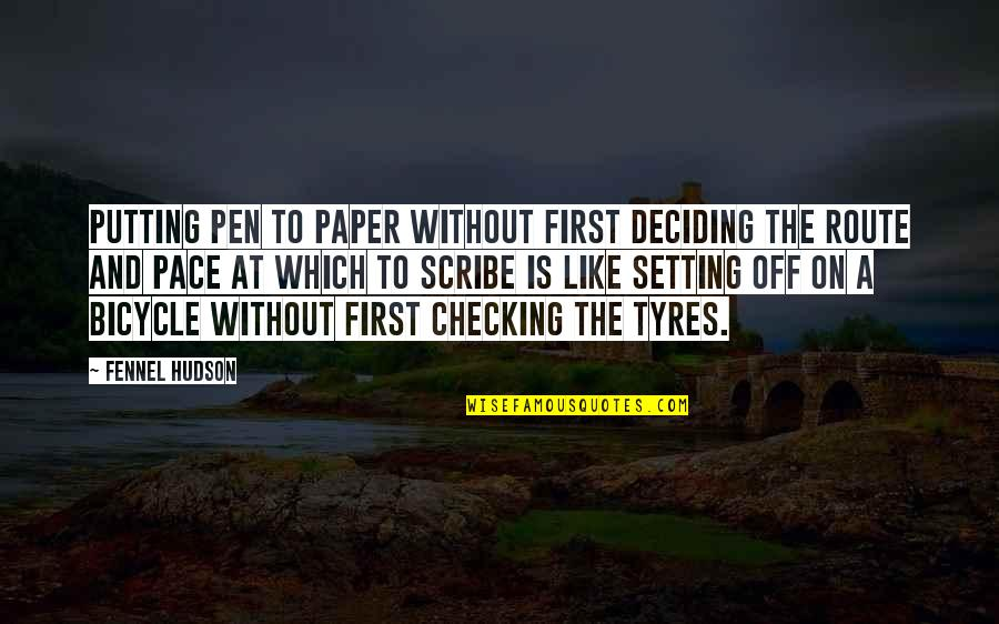 Block Quotes By Fennel Hudson: Putting pen to paper without first deciding the