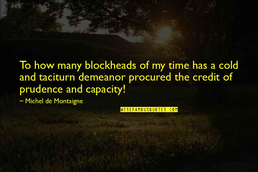 Blockheads Quotes By Michel De Montaigne: To how many blockheads of my time has
