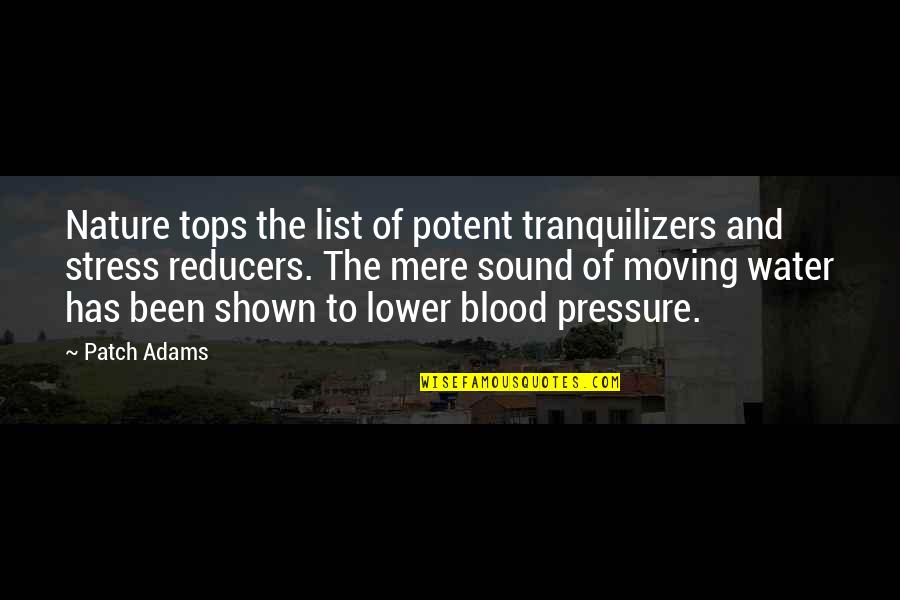 Blood Pressure Quotes By Patch Adams: Nature tops the list of potent tranquilizers and