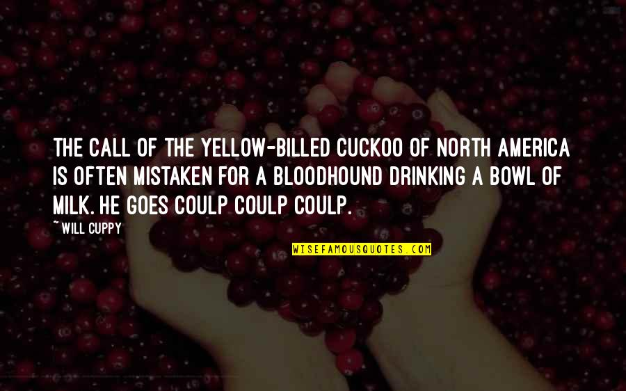 Bloodhounds Quotes By Will Cuppy: The call of the yellow-billed cuckoo of North