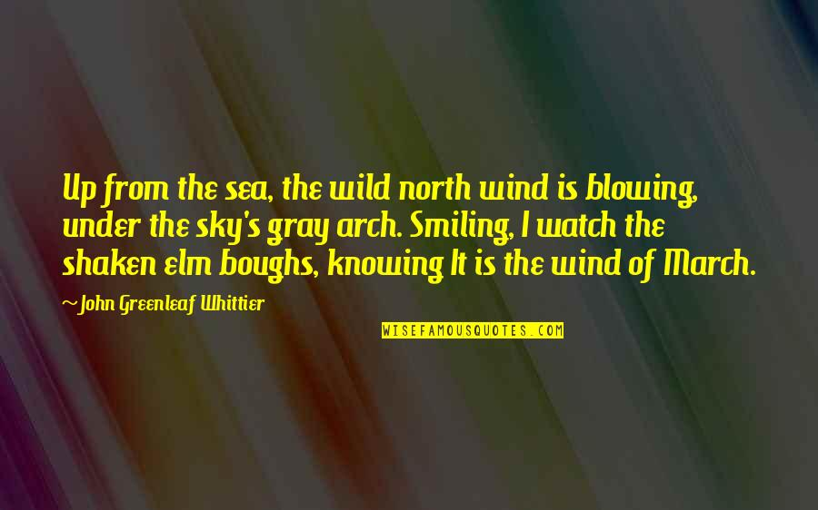 Blowing Up Quotes By John Greenleaf Whittier: Up from the sea, the wild north wind