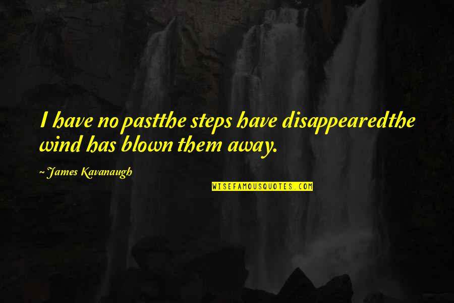 Blown Away Quotes By James Kavanaugh: I have no pastthe steps have disappearedthe wind