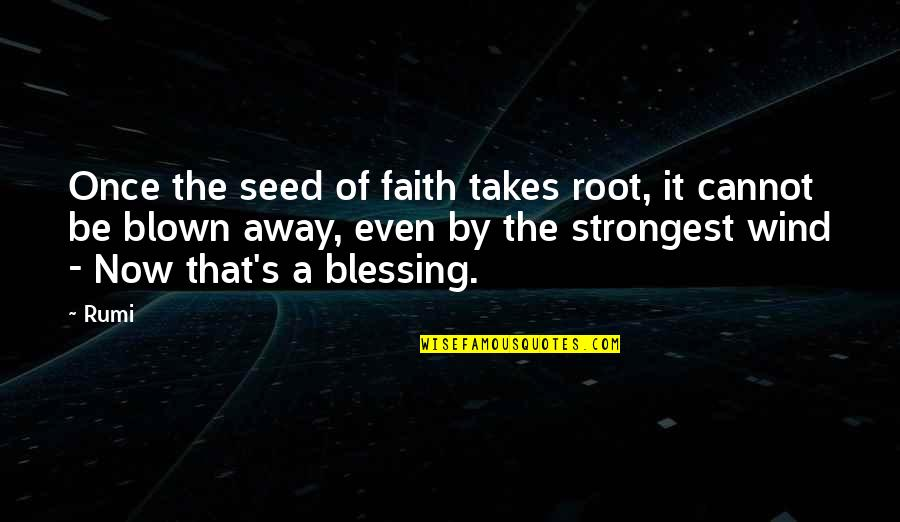 Blown Away Quotes By Rumi: Once the seed of faith takes root, it