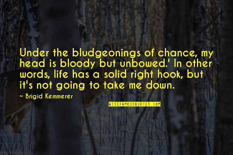 Bludgeonings Quotes By Brigid Kemmerer: Under the bludgeonings of chance, my head is