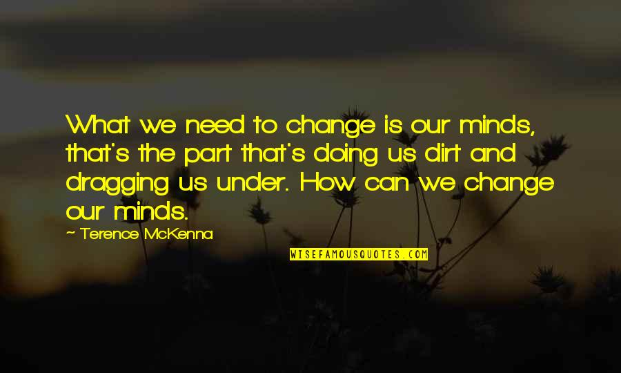 Boanerges Quotes By Terence McKenna: What we need to change is our minds,