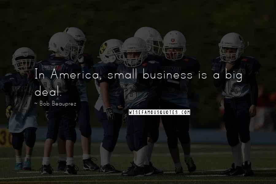 Bob Beauprez quotes: In America, small business is a big deal.