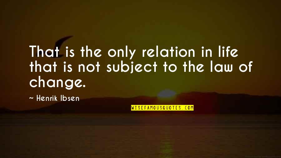 Bob Hairstyles Quotes By Henrik Ibsen: That is the only relation in life that