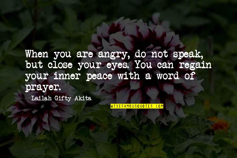 Bob Kane Quotes By Lailah Gifty Akita: When you are angry, do not speak, but