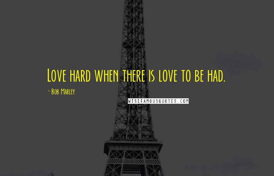 Bob Marley quotes: Love hard when there is love to be had.
