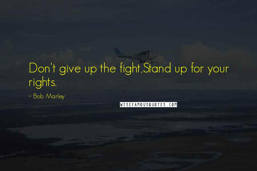Bob Marley quotes: Don't give up the fight,Stand up for your rights.