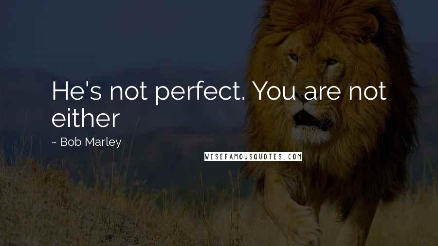 Bob Marley quotes: He's not perfect. You are not either