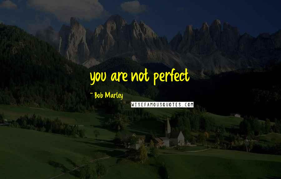 Bob Marley quotes: you are not perfect