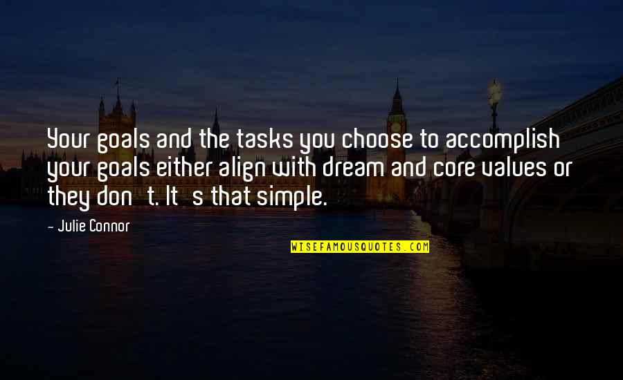 Bobby Cobb Quotes By Julie Connor: Your goals and the tasks you choose to