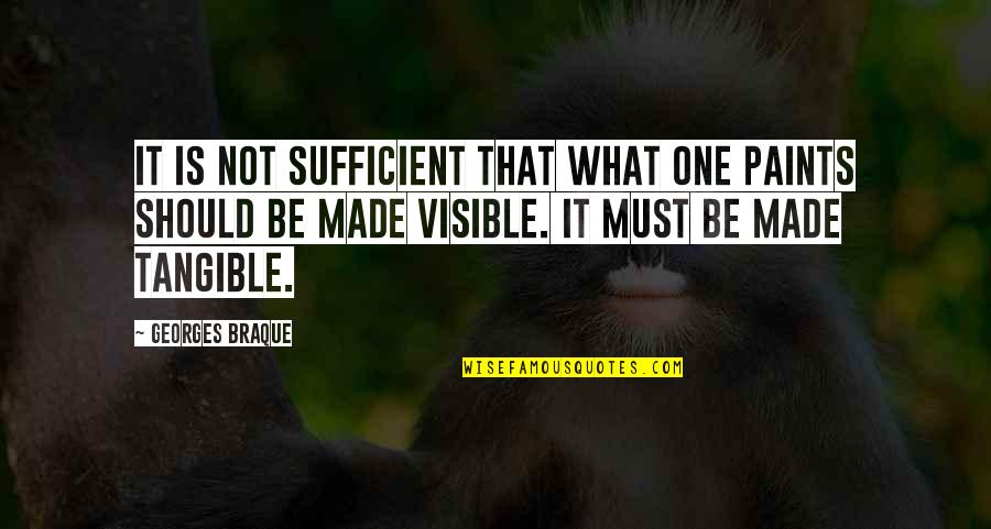 Bobi Wine Quotes By Georges Braque: It is not sufficient that what one paints