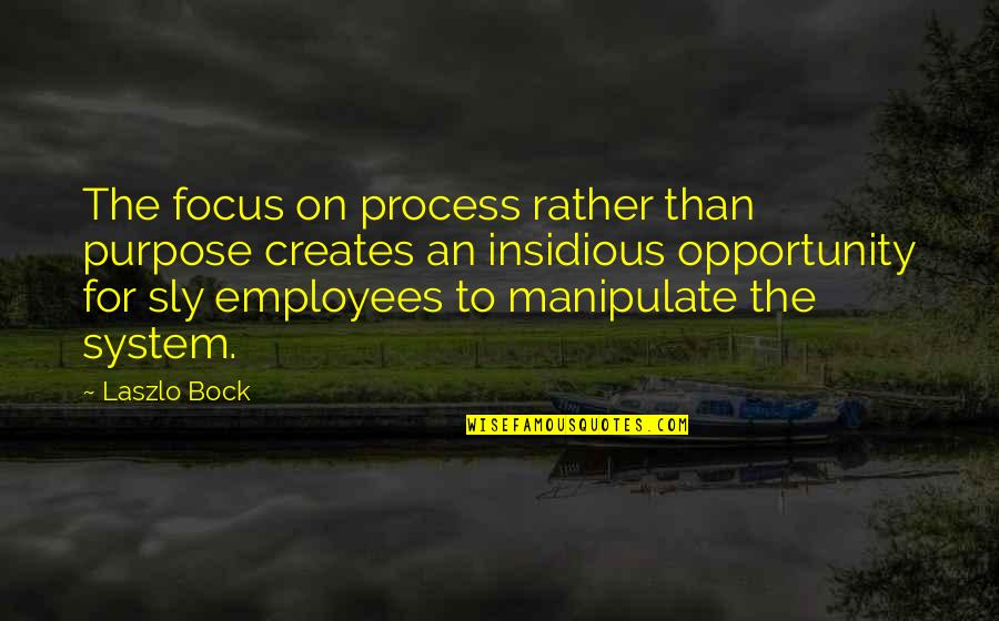Bock Quotes By Laszlo Bock: The focus on process rather than purpose creates
