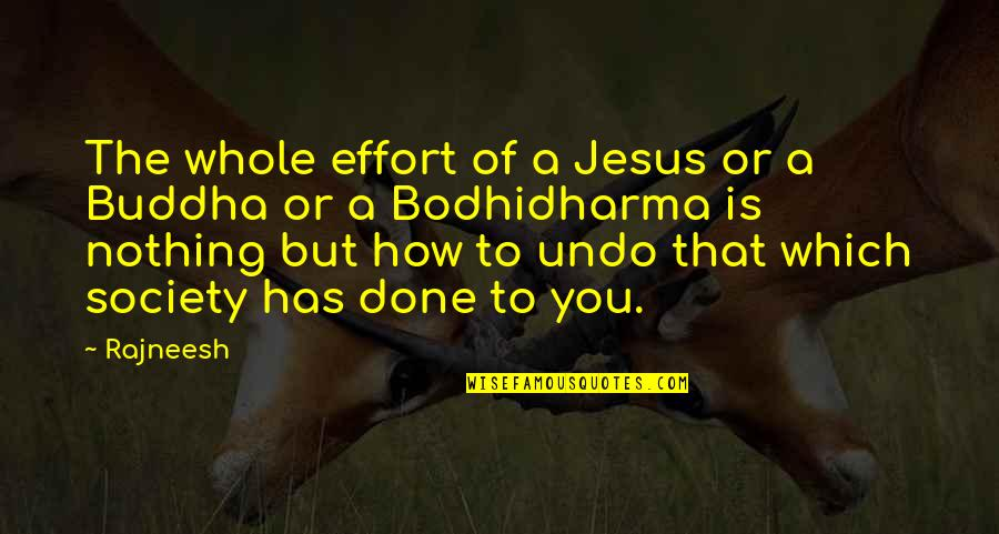 Bodhidharma's Quotes By Rajneesh: The whole effort of a Jesus or a