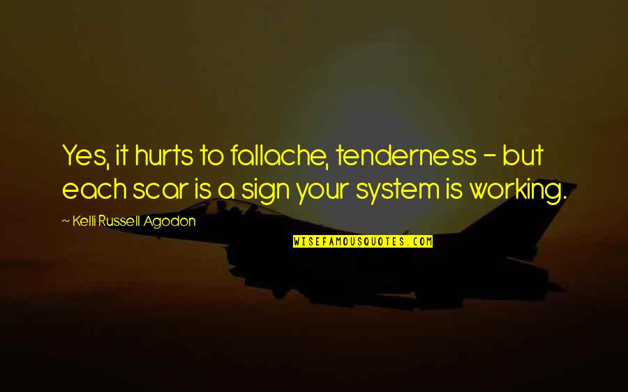 Body Ache Quotes By Kelli Russell Agodon: Yes, it hurts to fallache, tenderness - but