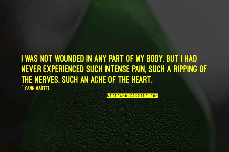 Body Ache Quotes By Yann Martel: I was not wounded in any part of