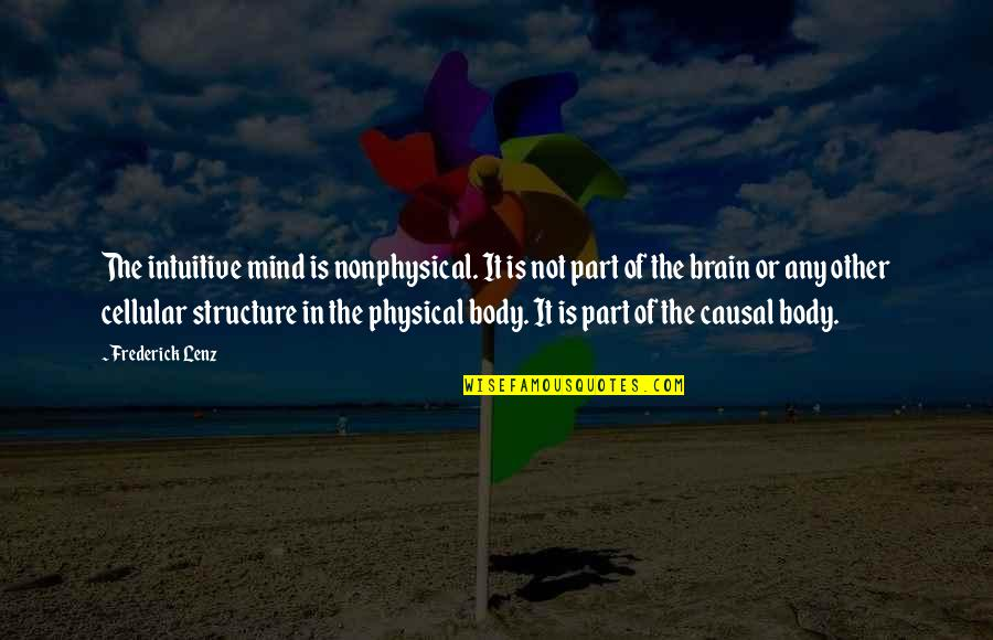 Body Part Quotes By Frederick Lenz: The intuitive mind is nonphysical. It is not