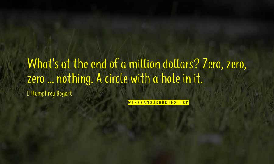 Bogart Quotes By Humphrey Bogart: What's at the end of a million dollars?