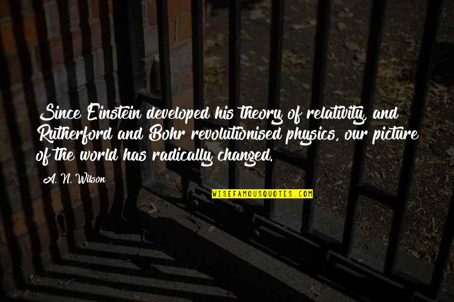 Bohr Einstein Quotes By A. N. Wilson: Since Einstein developed his theory of relativity, and