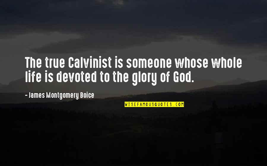 Boice Quotes By James Montgomery Boice: The true Calvinist is someone whose whole life