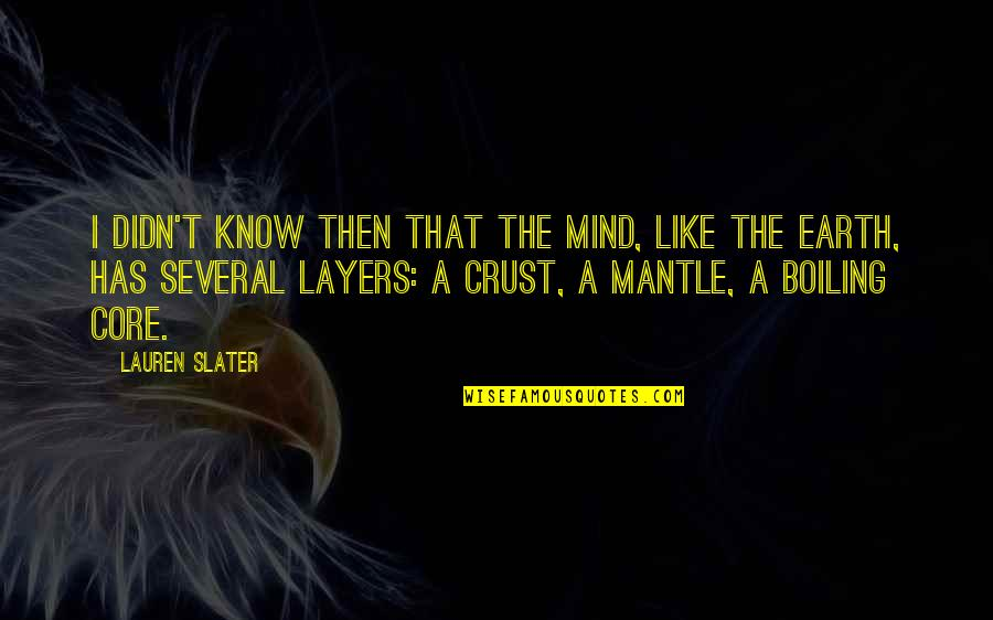 Boiling Quotes By Lauren Slater: I didn't know then that the mind, like