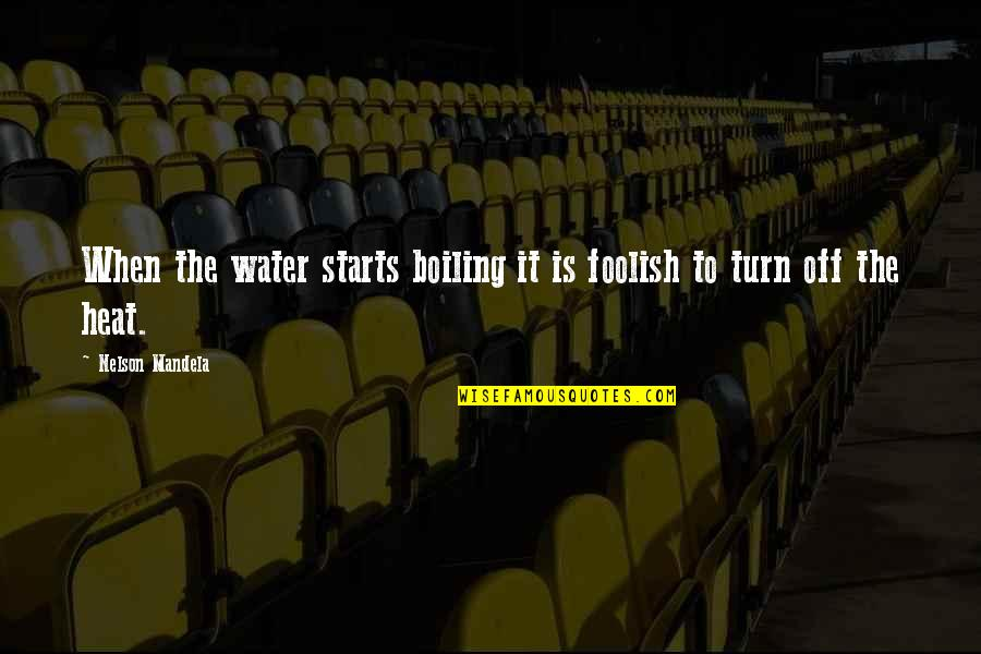 Boiling Quotes By Nelson Mandela: When the water starts boiling it is foolish